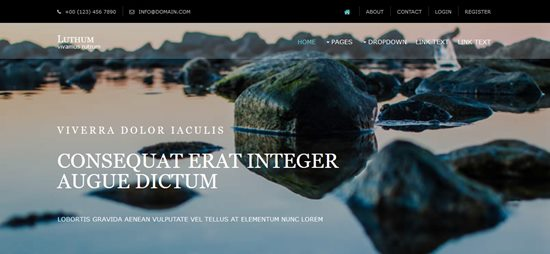 4. Luthum Free website template
