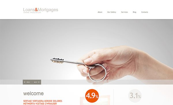 Mortgage Responsive WordPress Theme