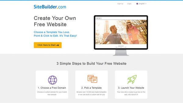 online create free website